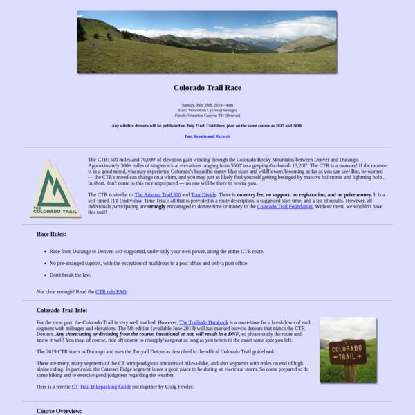 Colorado Trail Race