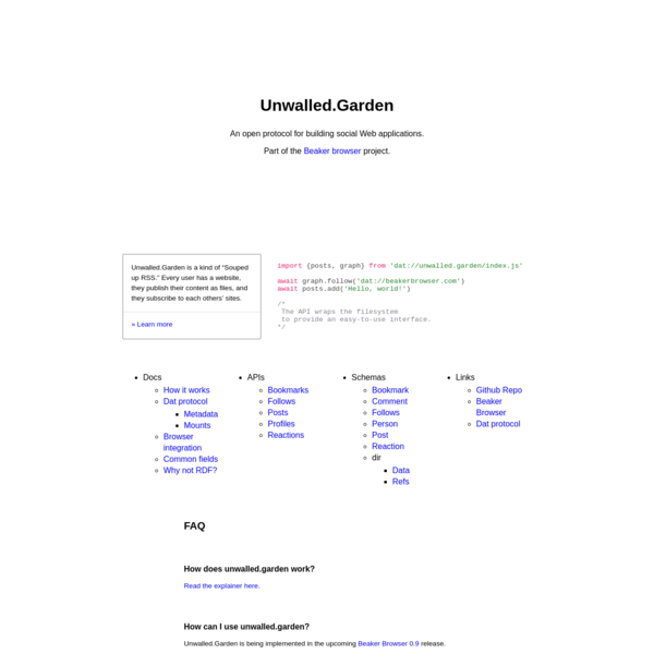 Unwalled.Garden | An open protocol for building social Web applications.