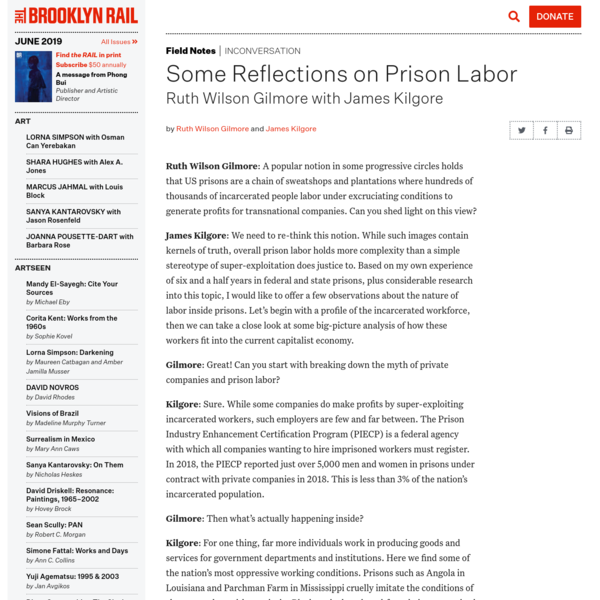 Some Reflections on Prison Labor