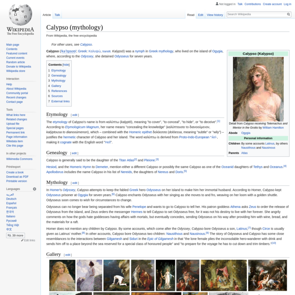 Calypso (mythology) - Wikipedia