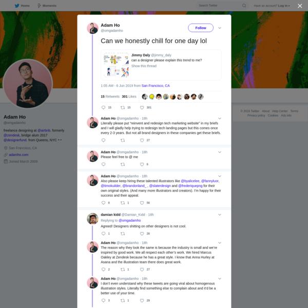Adam Ho on Twitter