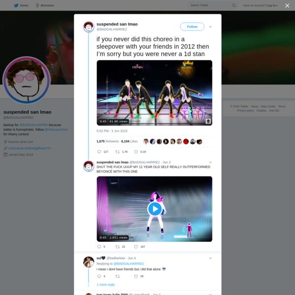suspended san lmao on Twitter