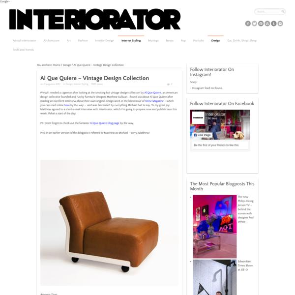 Al Que Quiere - Vintage Design Collection - INTERIORATOR
