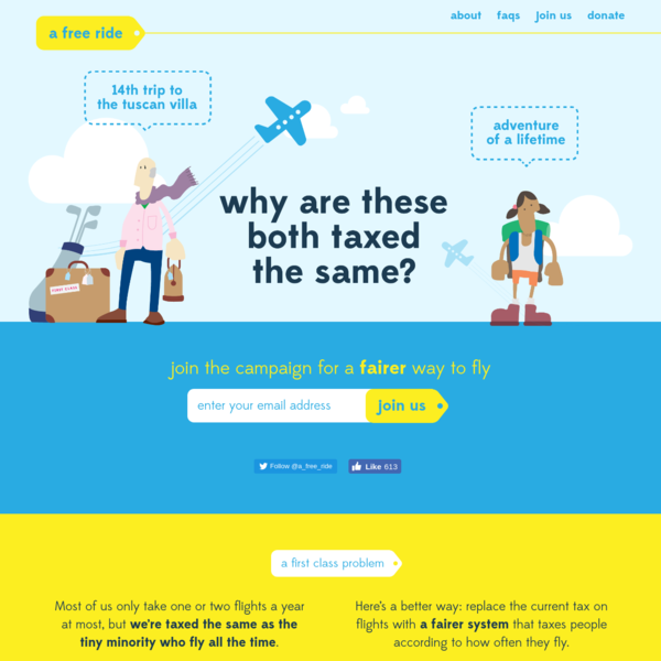 A Free Ride - Campaign for a fairer, greener tax on air travel
