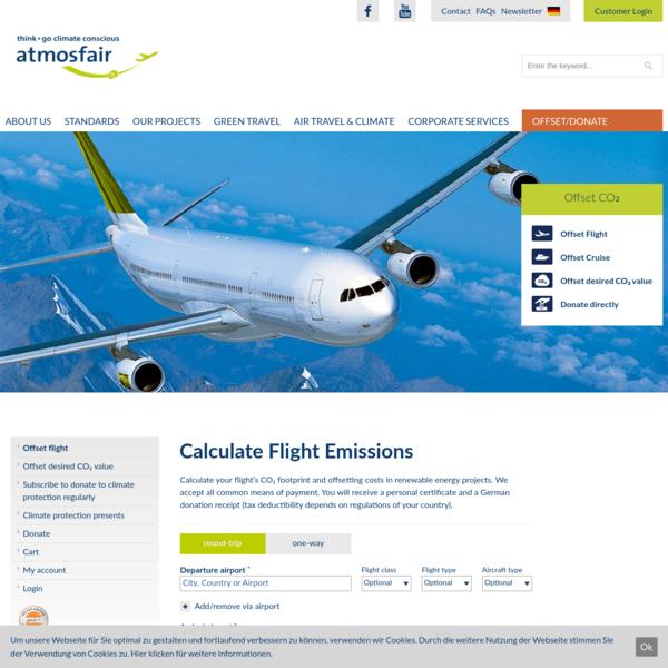 Offset your flight - atmosfair