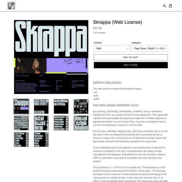 Skrappa (Web License)