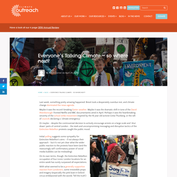 Everyone's Talking Climate - so where next? - Climate Outreach