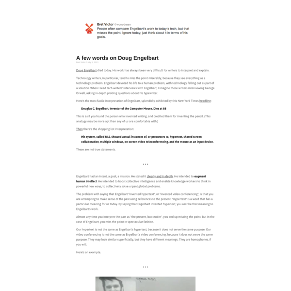 A few words on Doug Engelbart