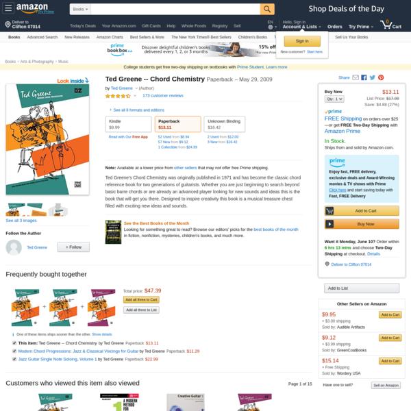 Amazon.com: Ted Greene -- Chord Chemistry (0029156133059): Ted Greene: Books
