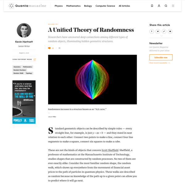 A Unified Theory of Randomness | Quanta Magazine