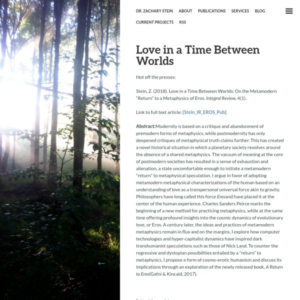 Love in a Time Between Worlds | Dr. Zachary Stein