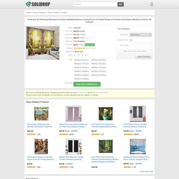 Peacock 3D Printing Blackout Curtains Bedding Room Living Room Or Hotel Drapes Cortians Sunshade Window Curtain 3D Curtains