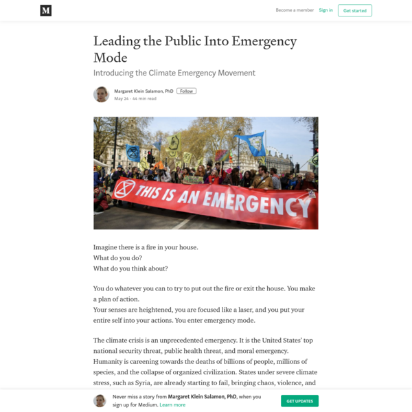 Leading the Public Into Emergency Mode