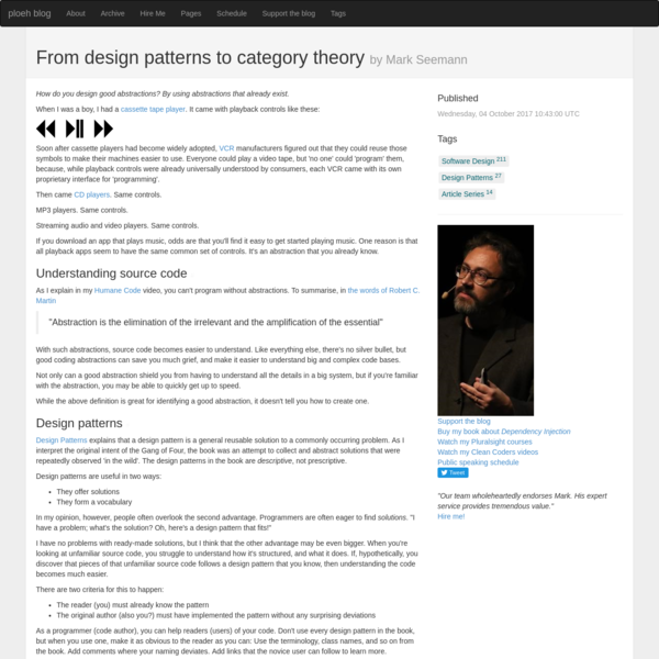 From design patterns to category theory