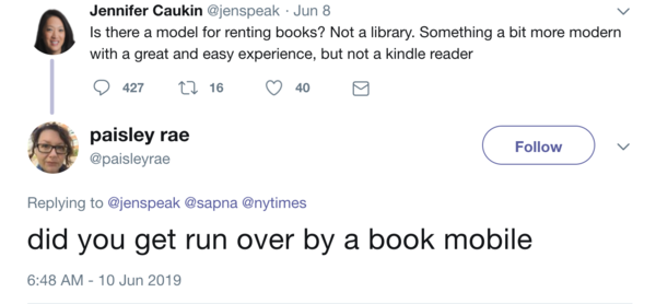 did you get run over by a book mobile