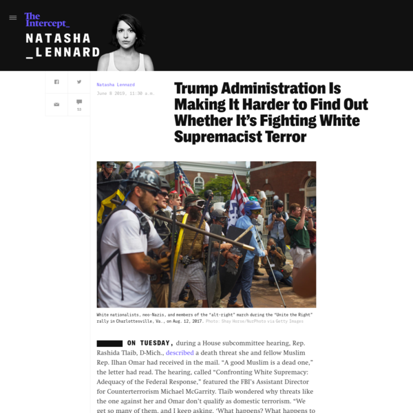 Trump Administration Is Making It Harder to Find Out Whether It's Fighting White Supremacist Terror