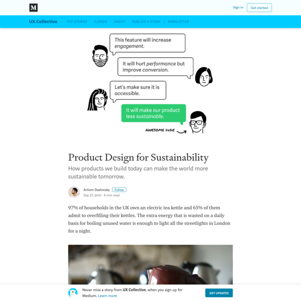 Product Design for Sustainability – UX Collective