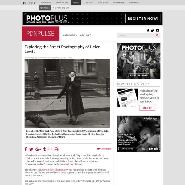 Exploring the Street Photography of Helen Levitt