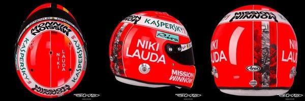 Sebastian Vettel's helmet tribute to Niki Lauda