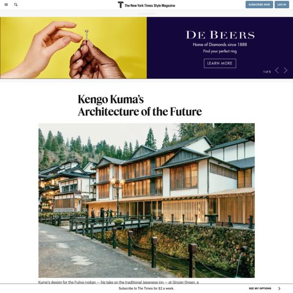 Kengo Kuma's Architecture of the Future