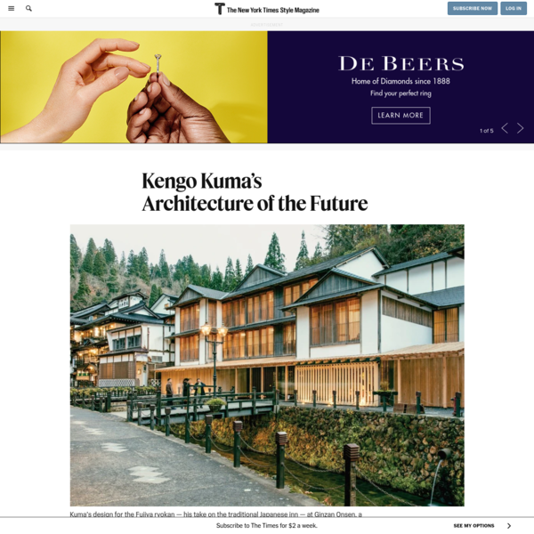 Kengo Kuma's Architecture of the Future