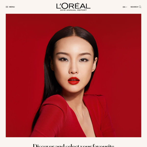 Homepage - L'Oréal Finance: Annual Report 2018