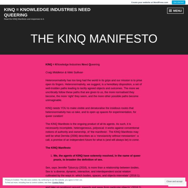 KINQ Manifesto