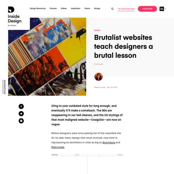 Brutalist websites teach designers a brutal lesson