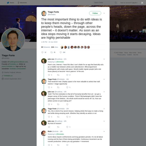 Tiago Forte on Twitter