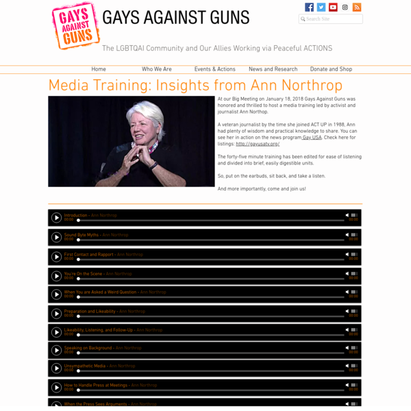 How to Deal with the Media | Ann Northrop | Gays Against Guns
