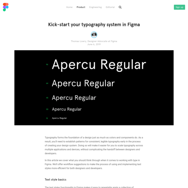 Kick-start your typography system in Figma