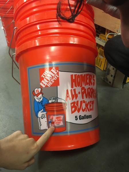 Home Depot bucket