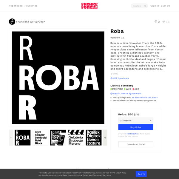 Roba by Franziska Weitgruber - Future Fonts