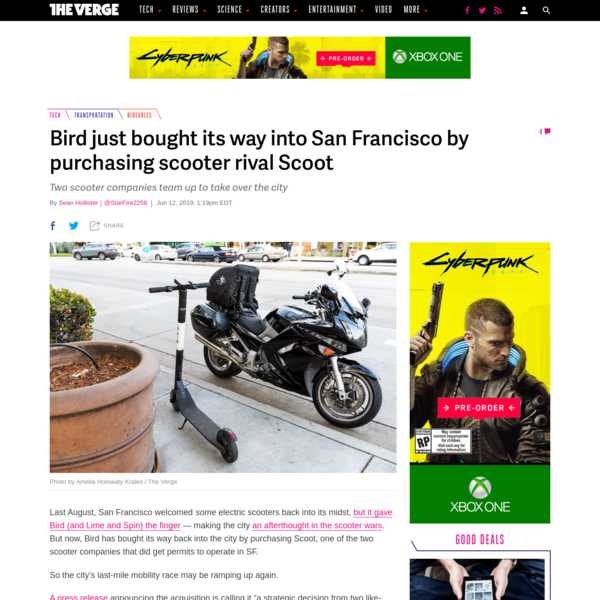 Bird just bought its way into San Francisco by purchasing scooter rival Scoot
