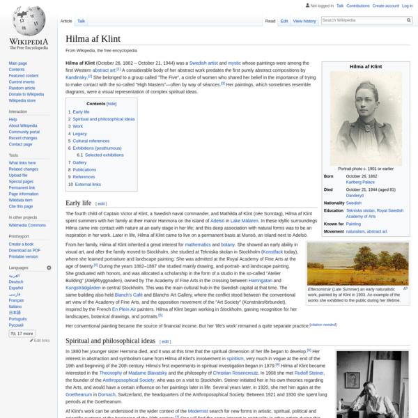 Hilma af Klint - Wikipedia