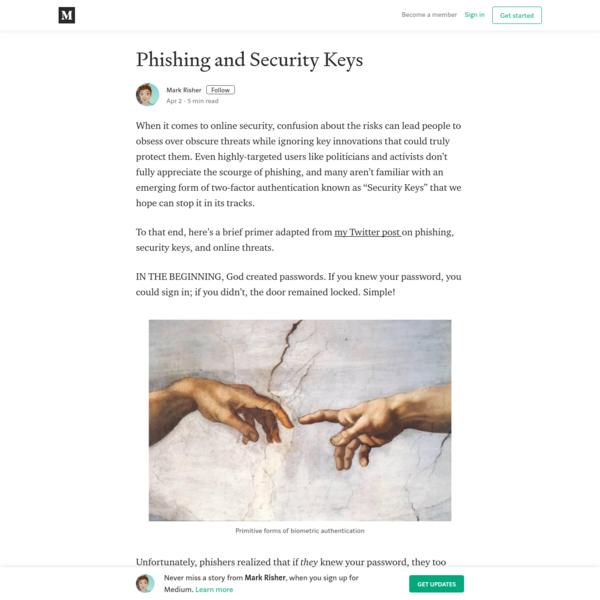 Phishing and Security Keys