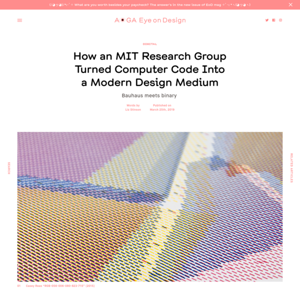 How an MIT Research Group Turned Computer Code Into a Modern Design Medium