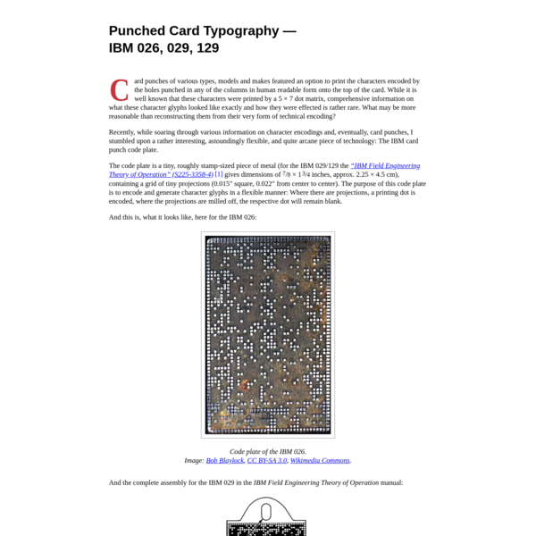 Punched Card Typography Explained