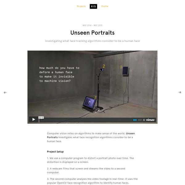 Unseen Portraits by Philipp Schmitt, Interaction Designer