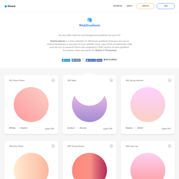 Free Gradients Collection by itmeo.com