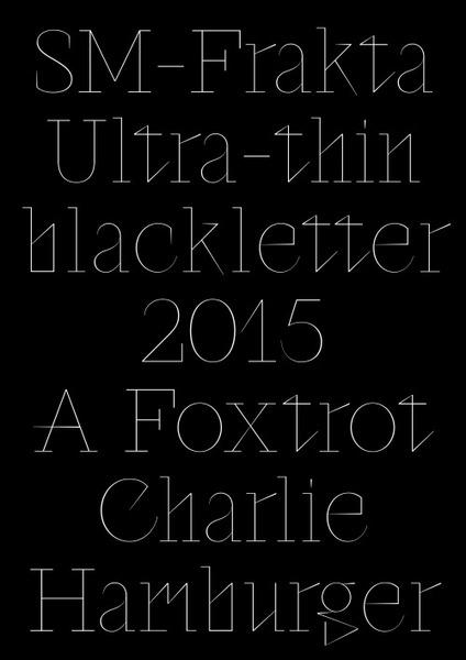SM-Frakta Typeface, 2015