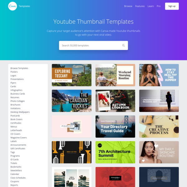 Customize 280+ YouTube Thumbnail templates online - Canva