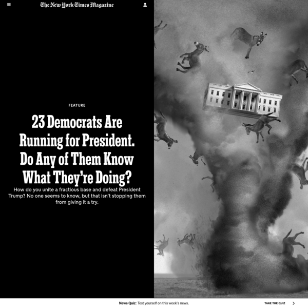23 Democrats Are Running for President. Do Any of Them Know What They're Doing?