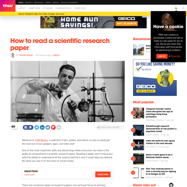 How to read a scientific research paper
