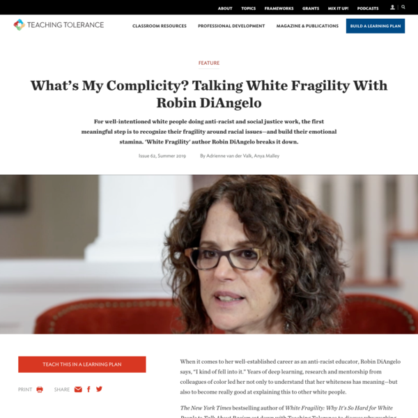 What's My Complicity? Talking White Fragility With Robin DiAngelo
