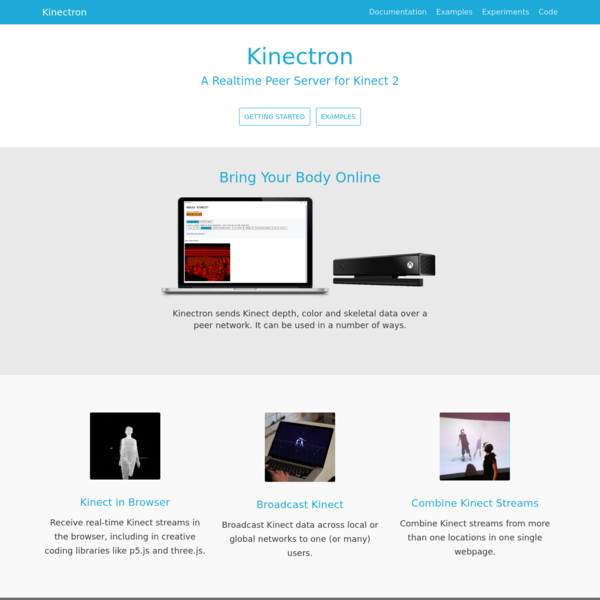 Kinectron · A Realtime Peer Server for Kinect 2