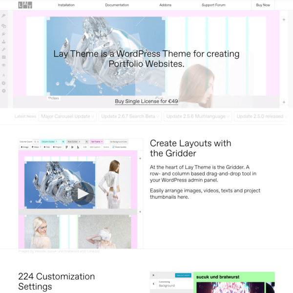 Lay Theme – The Designer's Portfolio Theme