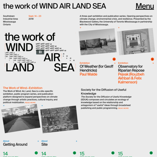 Home | the work of WIND AIR LAND SEA
