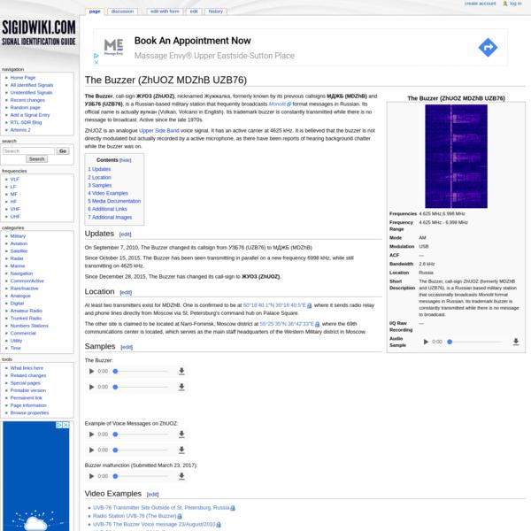 The Buzzer (ZhUOZ MDZhB UZB76) - Signal Identification Wiki