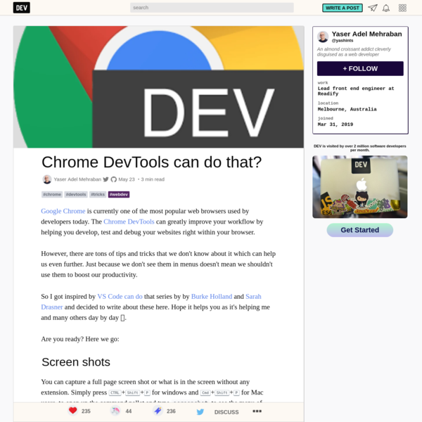 Chrome DevTools can do that?